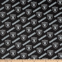 NFL Cotton Broadcloth Las Vegas Raiders Black/Silver