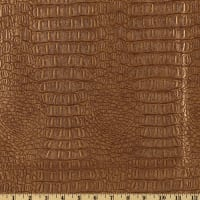Faux Leather Gator Metallic Copper