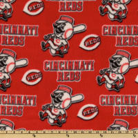 MLB Fleece Cincinnati Reds Toss White/Red