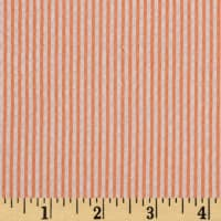 Kaufman Classic Seersucker Stripes Orange/White