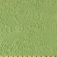 Shannon Minky Embossed Paisley Cuddle Olive