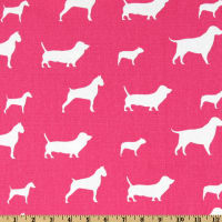 Premier Prints Best Friends Candy Pink/White