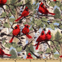 Baum WinterFleece Red Bird