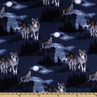 Baum WinterFleece Baying At The Moon Blue