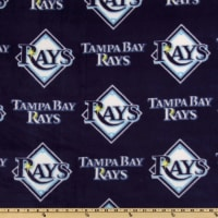 MLB Fleece Tampa Bay Rays Allover Navy/White