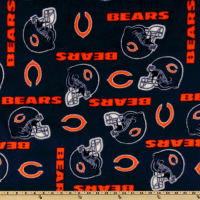 NFL Fleece Chicago Bears Blue/Orange Helmets