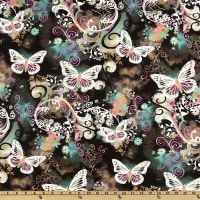 Michael Miller Filigree Flutter Black