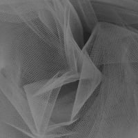 108'' Apparel Grade Tulle Charcoal