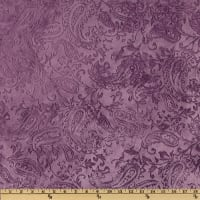 Shannon Minky Embossed Paisley Cuddle Violet