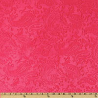 Shannon Minky Embossed Paisley Cuddle Watermelon