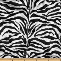 Charmeuse Satin Zebra White/Black