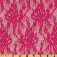 Giselle Stretch Floral Lace Fuchsia