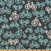 Michael Miller It's a Boy Thing Bicycles Grey