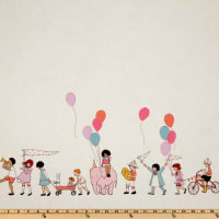 Michael Miller Children at Play On Parade Double Border Multi