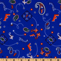 Collegiate Cotton Broadcloth University of Florida Bandana Blue