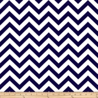 Premier Prints Zig Zag Twill Navy Blue/White