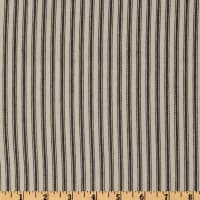 "32"" Down-Proof Ticking Stripe Blue/Cream"
