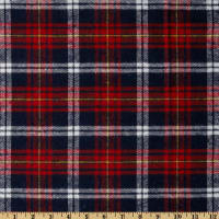 Yarn Dyed Flannel Plaid Navy/Red