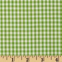 Wide Width 1/8'' Gingham Check Lime
