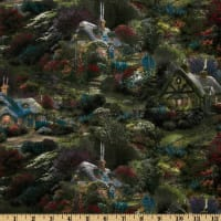 Thomas Kinkade Cottage Green/Multi