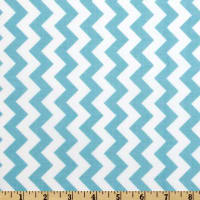 Riley Blake Chevron Small  Aqua