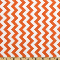 Riley Blake Chevron Small  Orange
