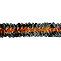 1 1/4'' 3 Row Stretch Metallic Sequin Trim Copper/Black