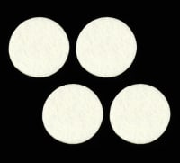 "Craft Felt Circle Pack 2"" White"