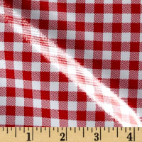 Oilcloth Gingham Red