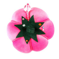Velvet Tomato Pin Cushion Hot Pink