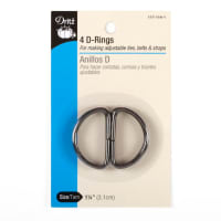 D-Rings Charcoal 1-1/4''