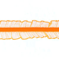 Riley Blake 1'' Elastic Lace Trim Orange