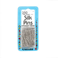 Fine Steel Silk Pins Size 20