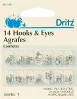Nickel Hooks & Eyes Size 1