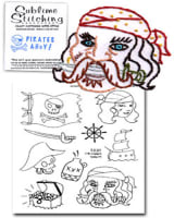 Sublime Stitching Pirates Ahoy! Embroidery Transfer