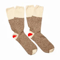 Sock Monkey Kit  2 pr Large Brown