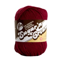 Lily Sugar 'n Cream Yarn Solid (00015) Wine