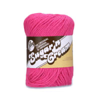Lily Sugar 'n Cream Yarn Solid (01740) Hot Pink