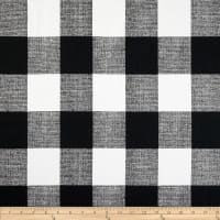 Premier Prints Anderson Check Cotton Duck Black/White