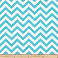 Premier Prints Zig Zag Twill Girly Blue