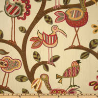 Swavelle Crazy Ol' Bird Jacquard Sunrise