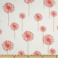 Premier Prints Dandelion Cotton Duck White/Coral