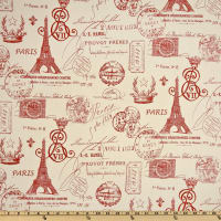 Premier Prints French Stamp Primary Red/Natural
