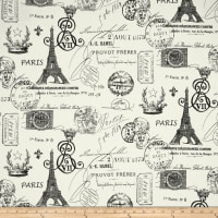 Premier Prints French Stamp Twill Grey