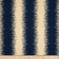 Premier Prints Jiri Stripe  Nina Navy/Birch Barkcloth
