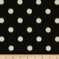 Premier Prints Ikat Dots Onyx/Natural