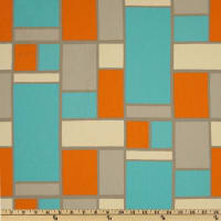 Premier Prints Hopscotch Mandarin/Natural