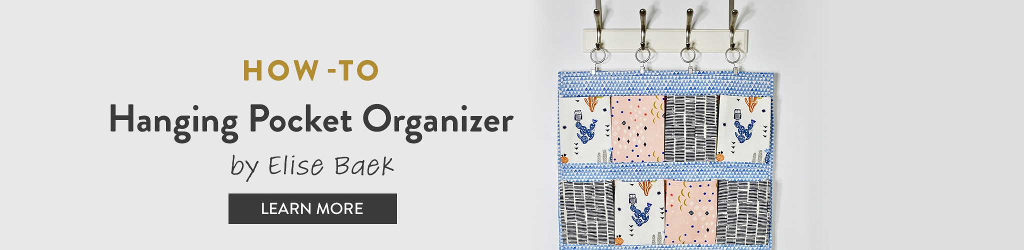 How To: Hanging Pocket Organizer