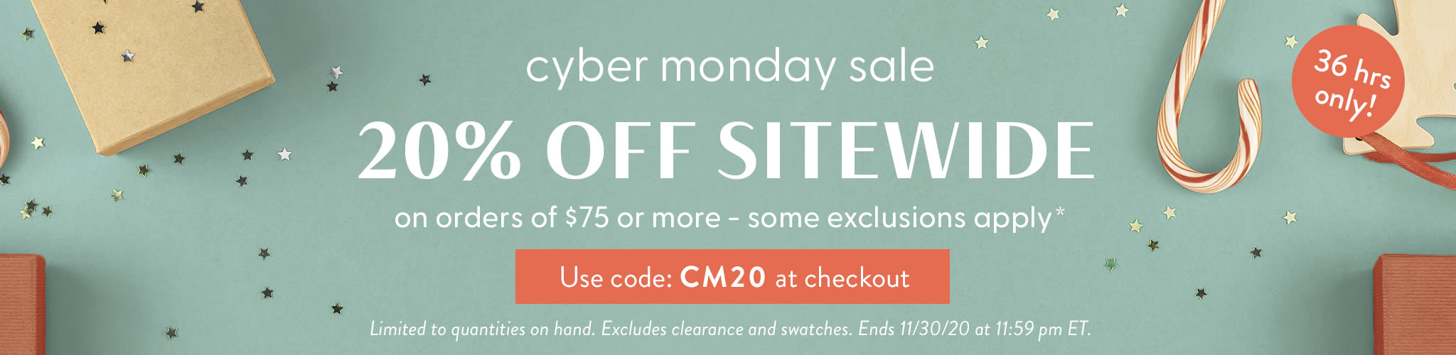 Cyber Monday Coupon 20% off