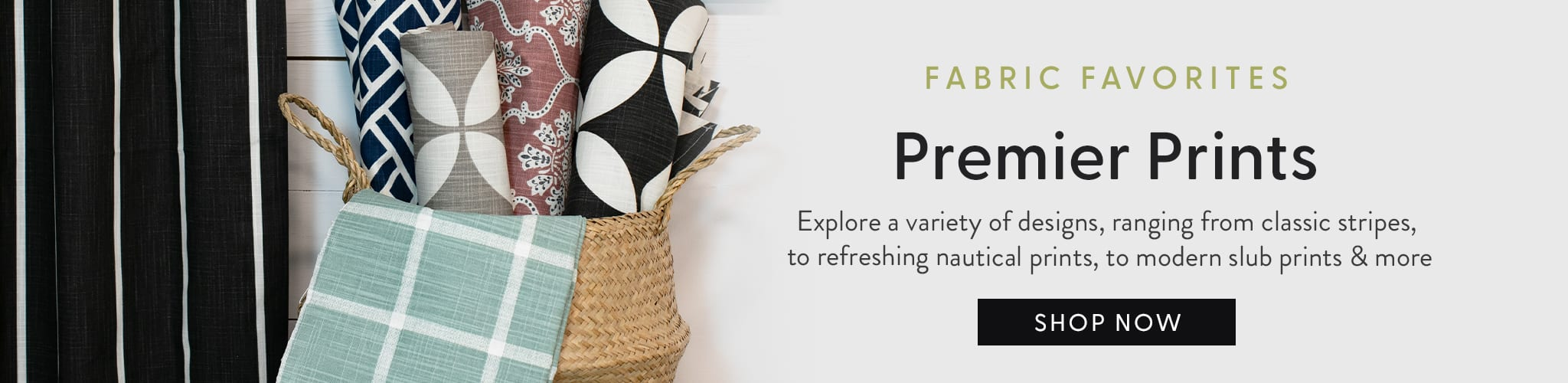 Fabric Favorites: Premier Prints - Explore a variety of designs ranging from classic stripes, to refreshing nautical prints, to modern slub prints & more.